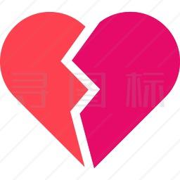 破碎的心图标