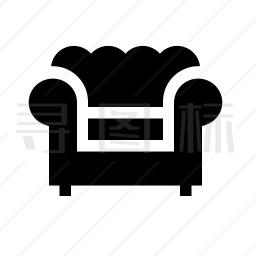 单人沙发图标