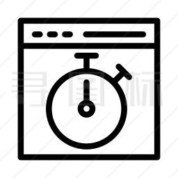 网页定时图标