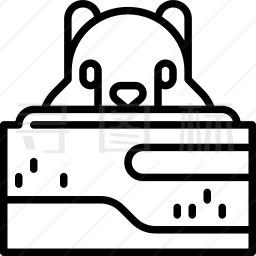 土拨鼠图标
