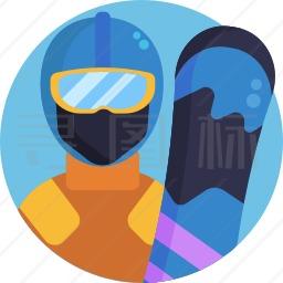 滑雪者图标