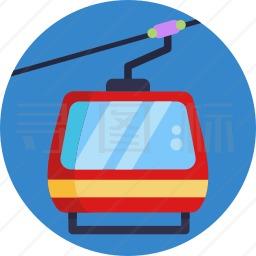 滑雪缆车图标