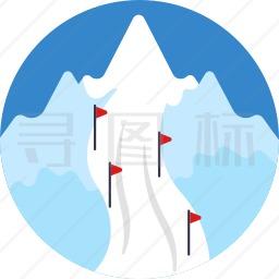 滑雪道图标