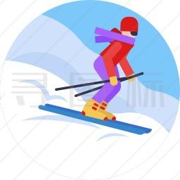 单板滑雪图标