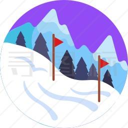 滑雪场图标