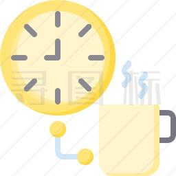 喝咖啡休息时间图标