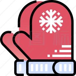 冬季手套图标