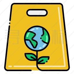 环保购物袋图标