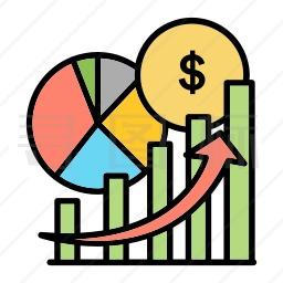 经济图表图标