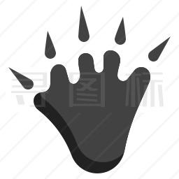 海狸爪印图标