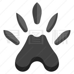 水獭爪印图标