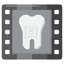牙齿射线图标