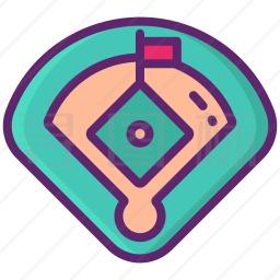 棒球场地图标