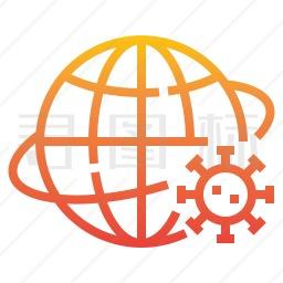 国际病毒图标