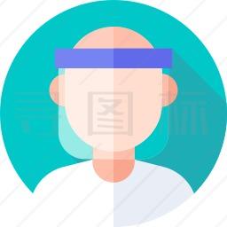 面部保护图标