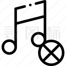 没有音乐图标