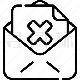 拒绝邮件图标