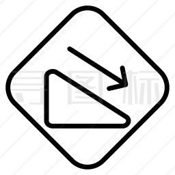 斜坡标志图标