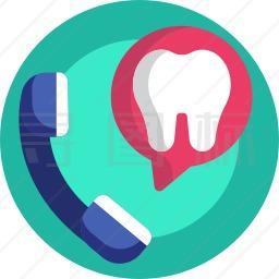 牙科电话图标