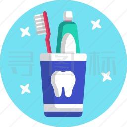 牙刷牙膏图标
