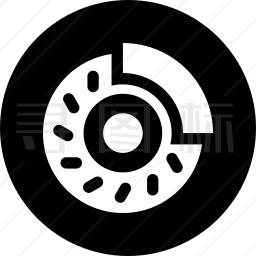 刹车片图标