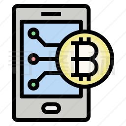 手机比特币图标
