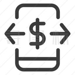 手机美元图标