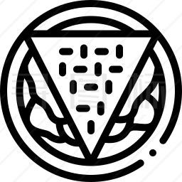 油炸玉米粉饼图标