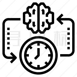 大脑时间图标