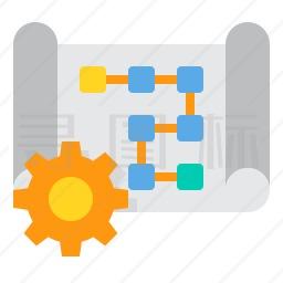 规划流程图图标