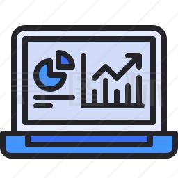 电脑统计图标