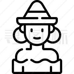 墨西哥女人图标