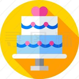 婚礼蛋糕图标