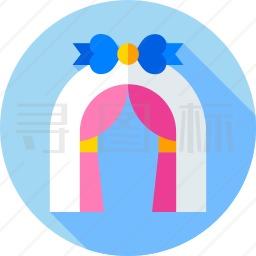 婚礼拱门图标