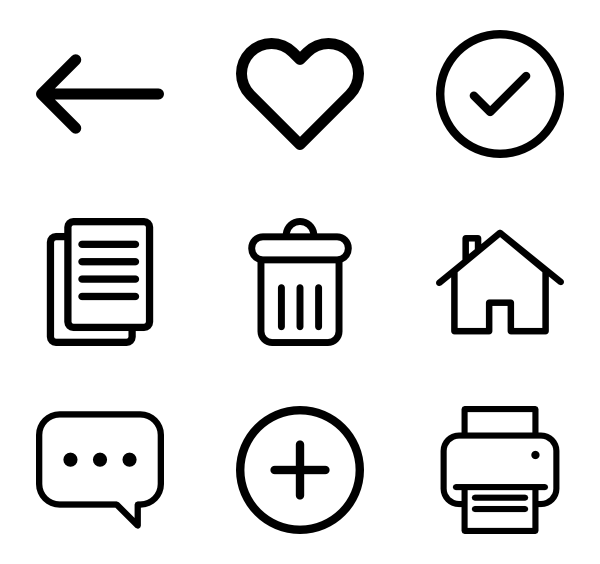 Web应用程序界面图标