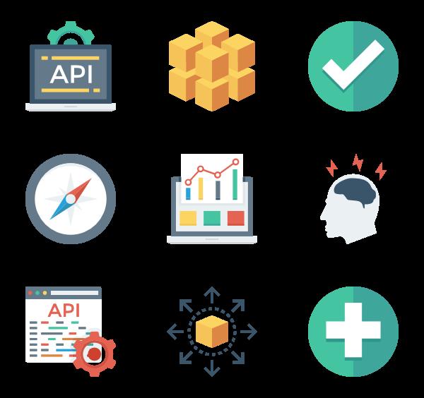 网页设计开发与用户界面图标