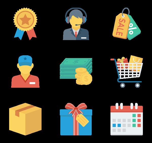 购物与电子商务图标