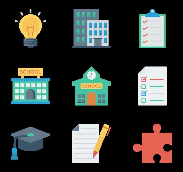 学校与教育图标
