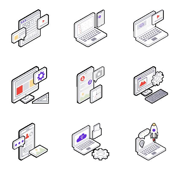 网页设计开发图标