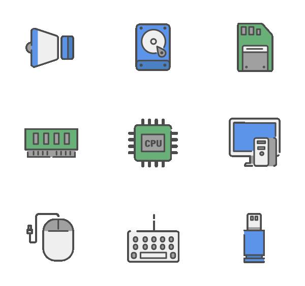 计算机和硬件图标