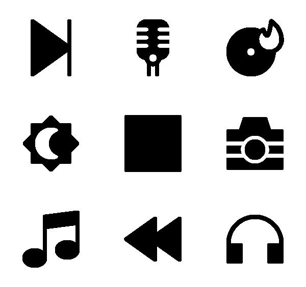 多媒体图标