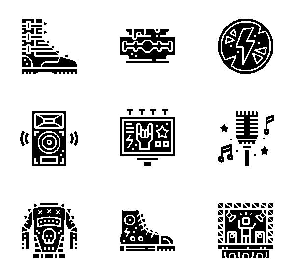 朋克摇滚图标
