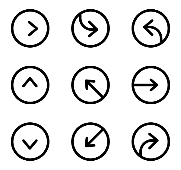 箭头UI图标