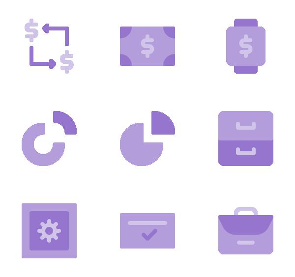 企业和金融图标