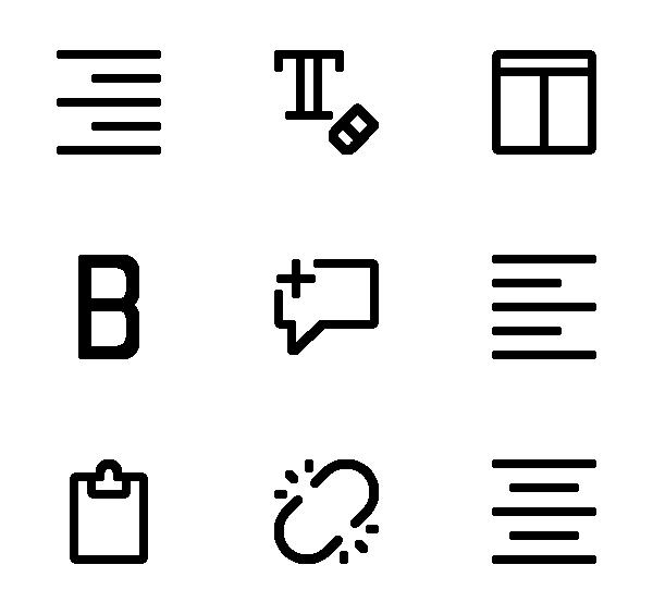 文本编辑图标