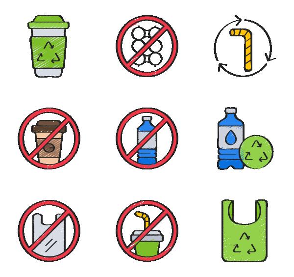 塑料污染图标