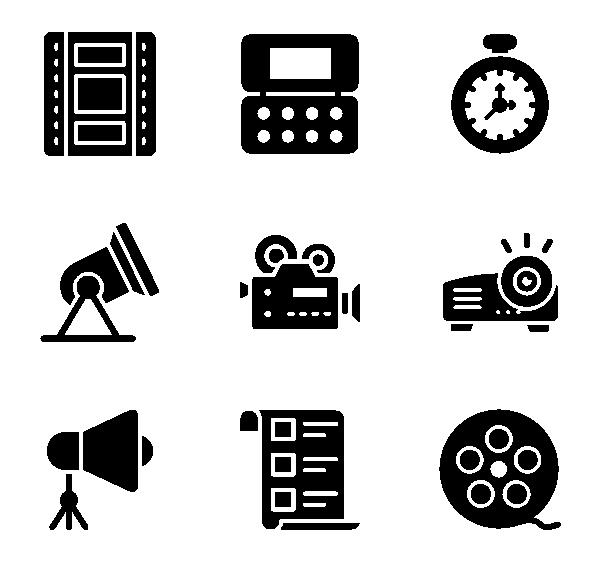 电影与电影制作图标