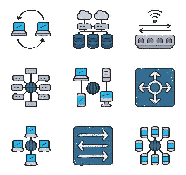 网络架构图标