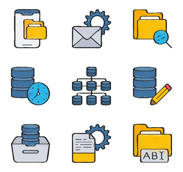 数据组织图标