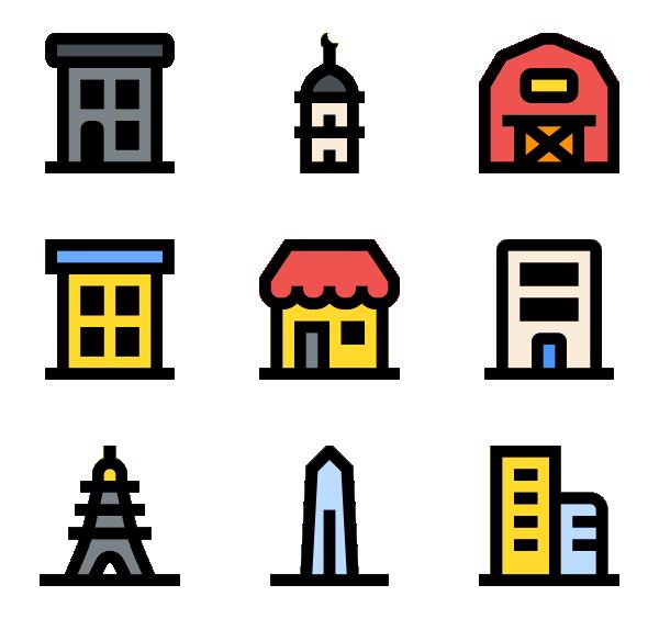 建筑地标图标